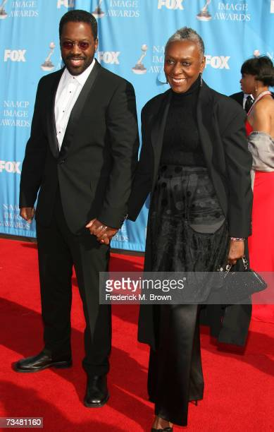 Actor Kadeem Hardison and his mother arrive at the 38th annual NAACP Image Awards held at the Shrine Auditorium on March 2 2007 in Los Angeles...