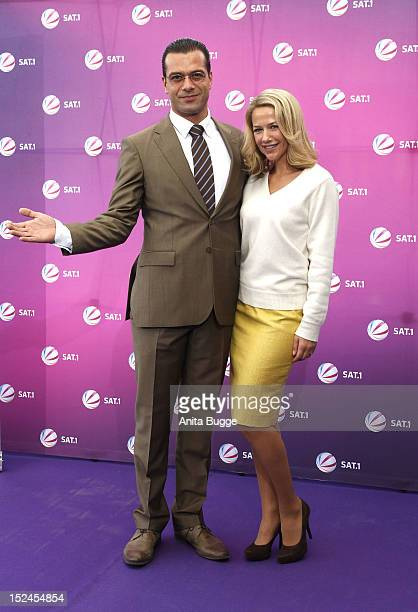 Actor Kai Schumann and actress Alexandra Neldel attend the 'Der Minister' photocall on September 21 2012 in Berlin Germany