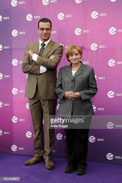 Actor Kai Schumann and actress Katharina Thalbach attend the 'Der Minister' photocall on September 21 2012 in Berlin Germany