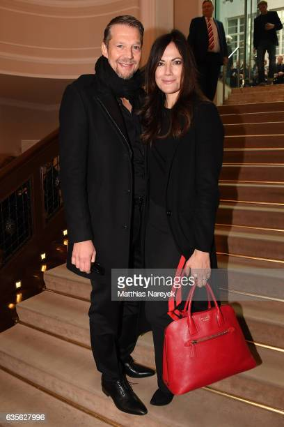 Actor Kai Wiesinger and actress Bettina Zimmermann attend the FFF Reception 2017 during the 67th Berlinale International Film Festival on February 16...