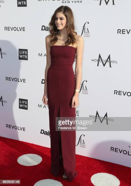 Actor Kaia Gerber attends the Daily Front Row's 3rd Annual Fashion Los Angeles Awards at Sunset Tower Hotel on April 2 2017 in West Hollywood...