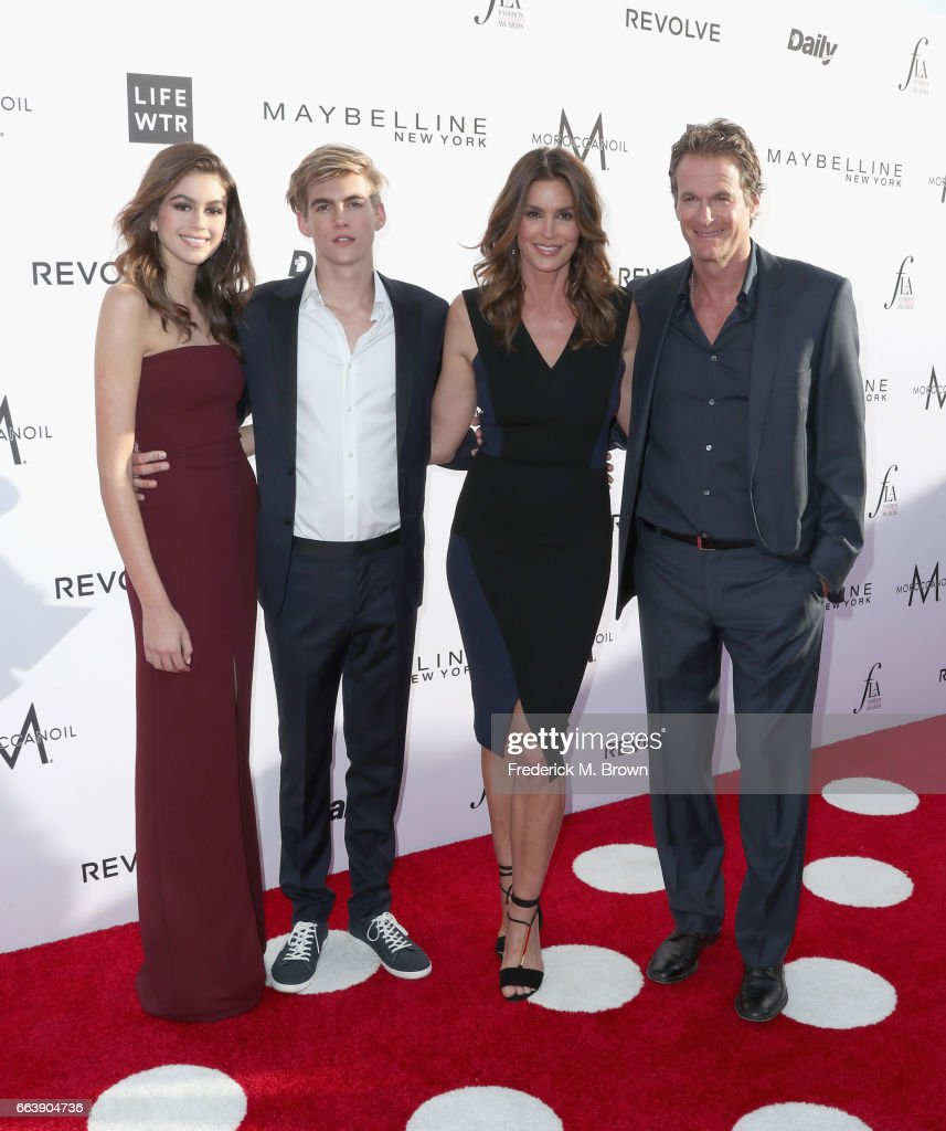Actor Kaia Gerber, honoree Presley Gerber, Cindy Crawford and Rande Gerber attend the Daily Front Row's 3rd Annual Fashion Los Angeles Awards at Sunset Tower Hotel on April 2, 2017 in West Hollywood, California.