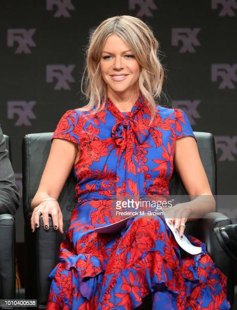 Actor Kaitlin Olson speaks onstage at the 'It's Always Sunny in Philadelphia' panel during the FX Network portion of the Summer 2018 TCA Press Tour...