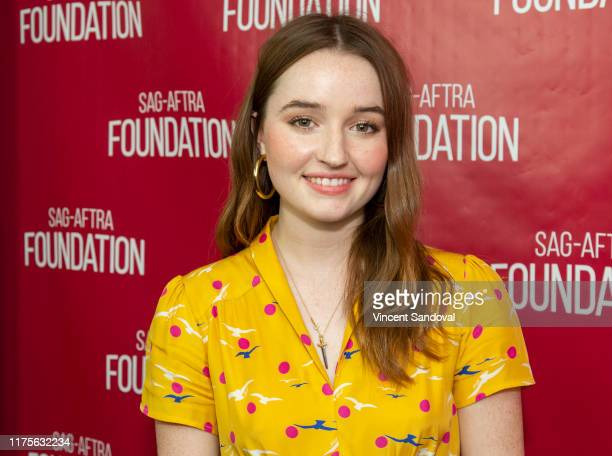 Actor Kaitlyn Dever attends SAGAFTRA Foundation Conversations with Booksmart at SAGAFTRA Foundation Screening Room on September 18 2019 in Los...