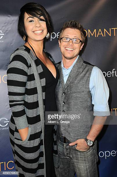 Actor KajErik Eriksen and wife Claudia Dolph arrive for the Special Screening of Matt Zarley's hopefulROMANTIC With George Takei held at American...