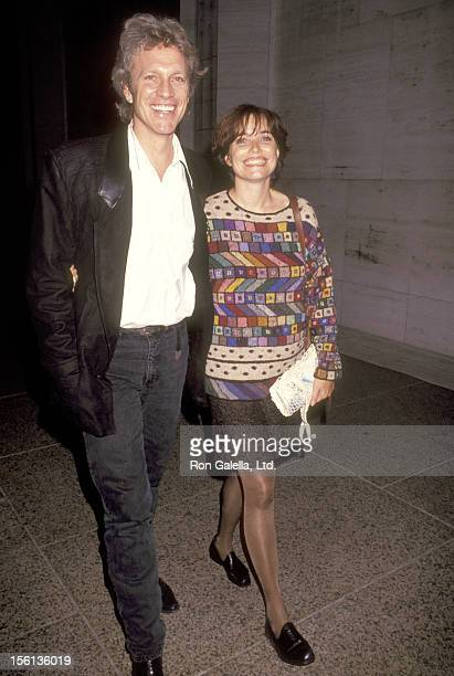 Actor Kale Browne and Actress Karen Allen attend The Big Apple Circus on October 25 1991 at Lincoln Center in New York City New York