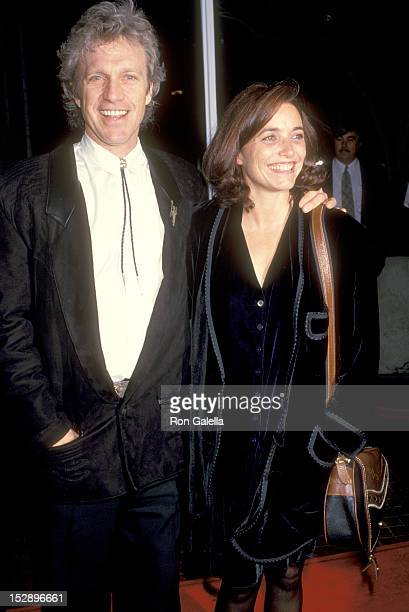 Actor Kale Browne and Actress Karen Allen attend the I'll Do Anything Westwood Premiere on January 23 1994 at Avco Center Cinemas in Westwood...