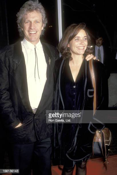 Actor Kale Browne and Actress Karen Allen attend the 'I'll Do Anything' Westwood Premiere on January 23 1994 at Avco Center Cinemas in Westwood...