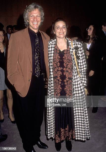 Actor Kale Browne and Actress Karen Allen attend 'The Player' West Hollywood Premiere on April 3 1992 at DGA Theatre in West Hollywood California