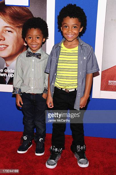 Actor Kaleo Elam and Makhari Elam attend the 'Grown Ups 2' New York Premiere at AMC Lincoln Square Theater on July 10 2013 in New York City
