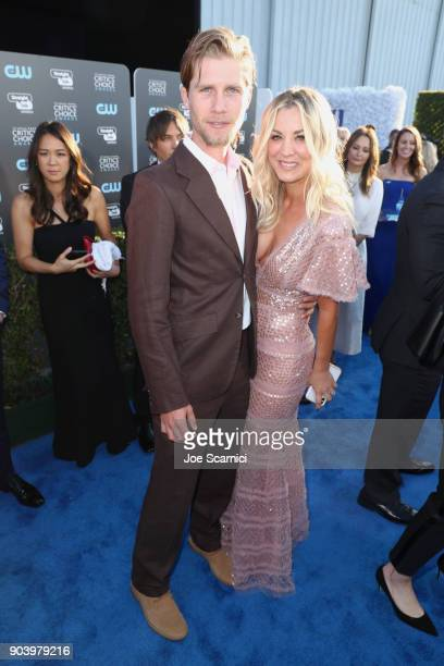 Actor Kaley Cuoco and Karl Cook attends the 23rd Annual Critics' Choice Awards on January 11 2018 in Santa Monica California