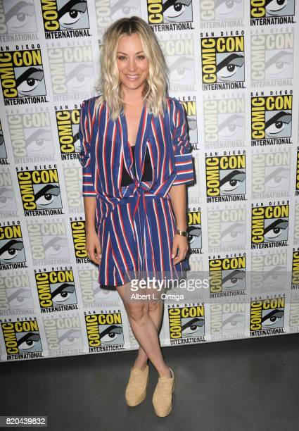 Actor Kaley Cuoco attends ComicCon International 2017 'The Big Bang Theory' panel at San Diego Convention Center on July 21 2017 in San Diego...