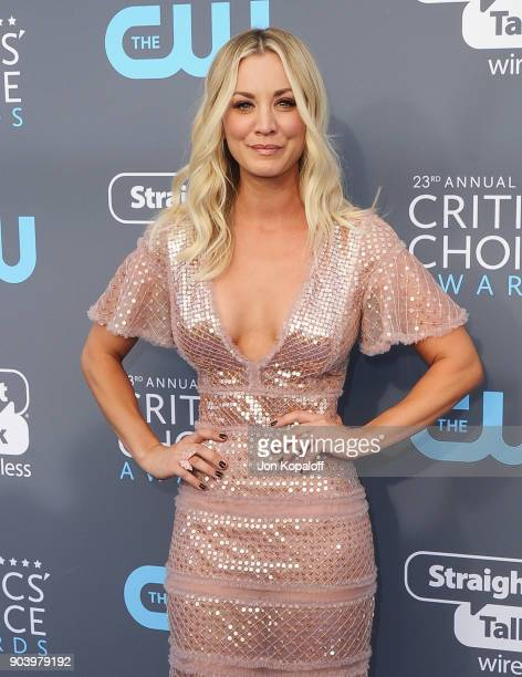 Actor Kaley Cuoco attends The 23rd Annual Critics' Choice Awards at Barker Hangar on January 11, 2018 in Santa Monica, California.