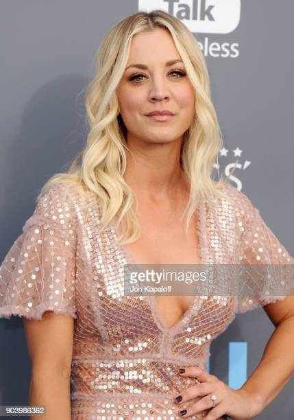 Actor Kaley Cuoco attends The 23rd Annual Critics' Choice Awards at Barker Hangar on January 11 2018 in Santa Monica California
