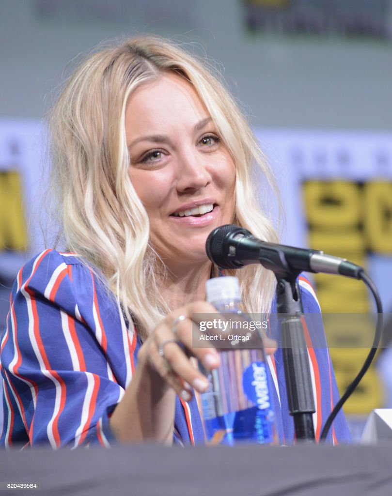 Actor Kaley Cuoco speaks onstage at Comic-Con International 2017 'The Big Bang Theory' panel at San Diego Convention Center on July 21, 2017 in San Diego, California.