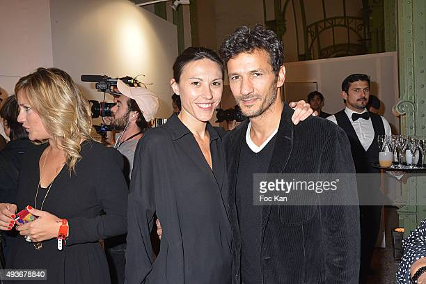 Actor Kamel Belghazi and his wife Marine Thiery attend the Cocktail Orange during the FIAC 2015 International Contemporary Art Fair At Grand Palais...