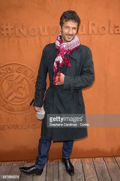 Actor Kamel Belghazi attends day twelve of the 2016 French Open at Roland Garros on June 2 2016 in Paris France
