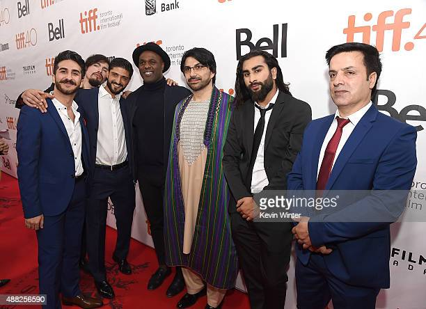 Actor Kamiran Aldeo actor Aqqalu Meekis guest actor Karl Campbell actor Neamat Arghandabi actor Alex Mokhtarzada and actor Fazal Hakimi attend the...