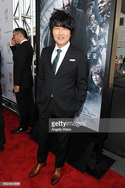 Actor Kangho Song attends the opening night premiere of 'Snowpiercer' during the 2014 Los Angeles Film Festival at Regal Cinemas LA Live on June 11...