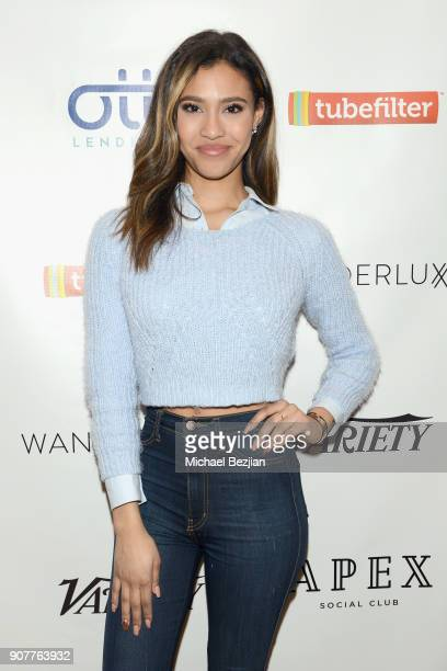 Actor Kara Royster attends the WanderLuxxe House with Apex Social Club presents 'Mandy' after party presented by OTTLending during Sundance 2018 on...