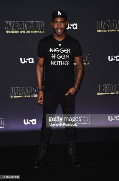 Actor Karamo Brown attends the premiere of USA Network's 'Unsolved The Murders of Tupac and The Notorious BIG at Avalon on February 22 2018 in...