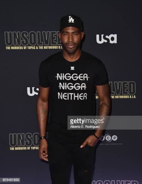 Actor Karamo Brown attends the premiere of USA Network's Unsolved The Murders of Tupac and The Notorious BIG at Avalon on February 22 2018 in...