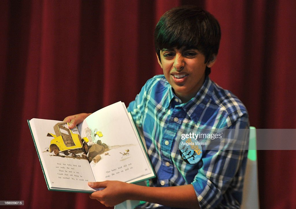 Actor Karan Brar reads at the Screen Actors Guild Foundation 20 Years Of BookPALS celebration at West Hollywood City Council Chamber on May 11, 2013 in West Hollywood, California.