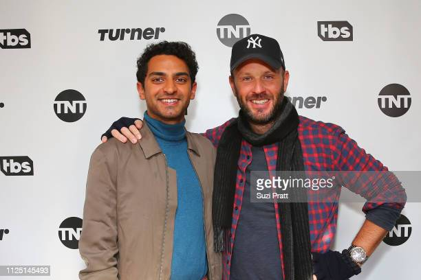 Actor Karan Soni and VP of Comedy at TBS Thom Hinkle pose for a photo at the Miracle Workers Sundance Hangover Brunch on January 26 2019 in Park City...