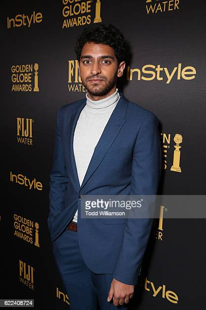 Actor Karan Soni attends the Hollywood Foreign Press Association and InStyles Celebration of the 2017 Golden Globe Awards Season on November 10 2016...