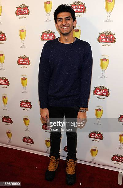 Actor Karan Soni attends the Safety Not Guaranteed press event hosted by Stella Artois at the Cutting Room at TMobile Google Music Village at The...