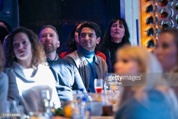 Actor Karan Soni watches the premiere of Miracle Workers on January 26 2019 in Park City Utah