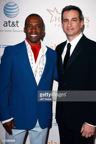 Actor Kareem Ferguson and President of GLAAD Neil Giuliano during cocktails at the 19th Annual GLAAD Media Awards on April 25 2008 at the Kodak...