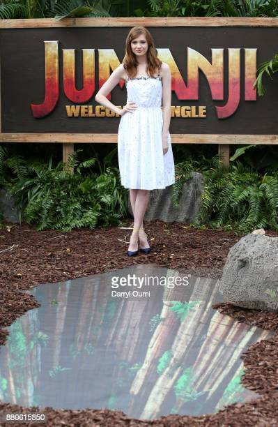 Actor Karen Gillan attends a photocall for Columbia Pictures' Jumanji Welcome To The Jungle at the Four Seasons Resort Oahu at Ko Olina on November...