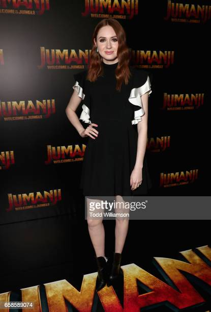 Actor Karen Gillan during a photo call for Columbia Pictures' JUMANJI WELCOME TO THE JUNGLE at Caesars Palace during CinemaCon 2017 the official...