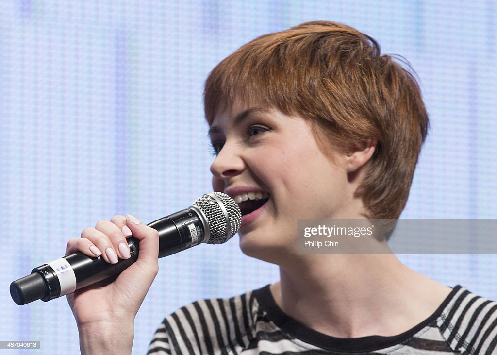 Actor Karen Gillan shares her experiences on 'Dr Who' in the 'Spotlight on Matt Smith and Karen Gillan' panel discussion at the Stampede Corral during the Calgary Expo/ Comic and Entratainment Expo on April 26, 2014 in Calgary, Canada.