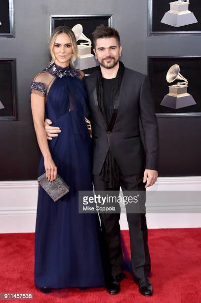 Actor Karen Martínez and recording artist Juanes attend the 60th Annual GRAMMY Awards at Madison Square Garden on January 28 2018 in New York City