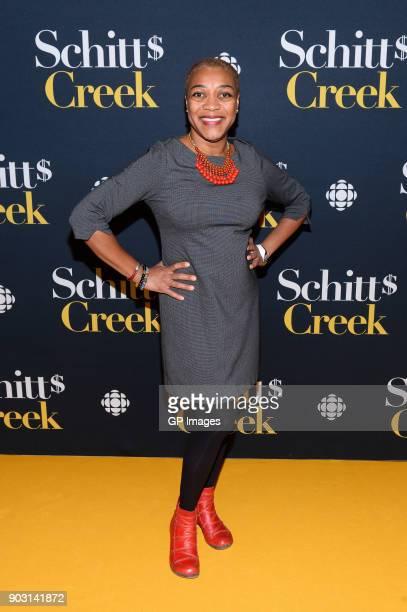 Actor Karen Robinson attends the 'Schitt's Creek' Season 4 premiere at TIFF Bell Lightbox on January 9 2018 in Toronto Canada