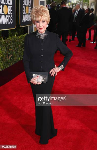 Actor Karen Sharpe celebrates The 75th Annual Golden Globe Awards with Moet Chandon at The Beverly Hilton Hotel on January 7 2018 in Beverly Hills...