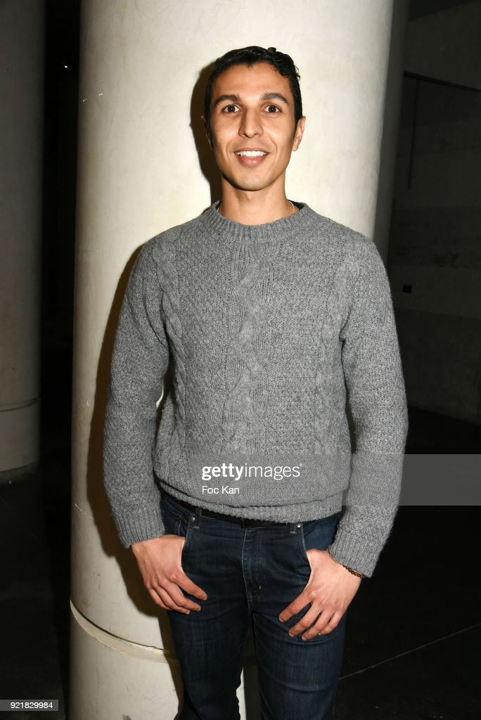 Actor Karim Ait M'Hand attends 'L'Amour Des Hommes' : Premiere At Institut du Monde Arabe on February 20, 2018 in Paris, France.