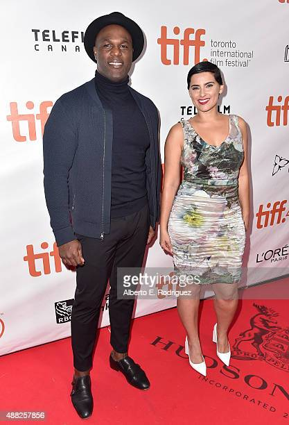 Actor Karl Campbelland artist Nelly Furtado attend the Hyena Road premiere during the 2015 Toronto International Film Festival at Roy Thomson Hall on...