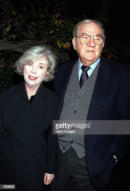 Actor Karl Malden and his wife Mona arrive at the Geffen Playhouse's premiere of The Weir February 7 2001 in Los Angeles CA