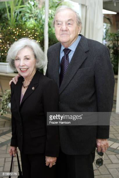 Actor Karl Malden and wife Mona Graham arrive at the 2004 AFI awards luncheon held at the Four Seasons Hotel on January 14 2005 in Los Angeles...