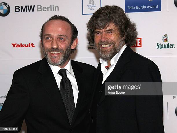 Actor Karl Markovic and extreme climber Reinhold Messner attend the 'Felix Burda Award Gala 2009' at Hotel Adlon Kempinski on March 29, 2009 in...