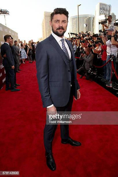 Actor Karl Urban attends the premiere of Paramount Pictures' 'Star Trek Beyond' at Embarcadero Marina Park South on July 20 2016 in San Diego...