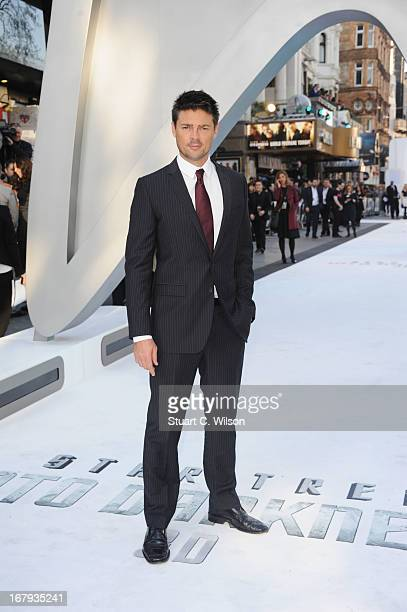 Actor Karl Urban attends the UK Premiere of 'Star Trek Into Darkness' at The Empire Cinema on May 2 2013 in London England