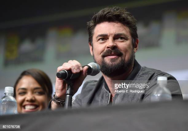 Actor Karl Urban from Marvel Studios' 'Thor Ragnarok' at the San Diego ComicCon International 2017 Marvel Studios Panel in Hall H on July 22 2017 in...