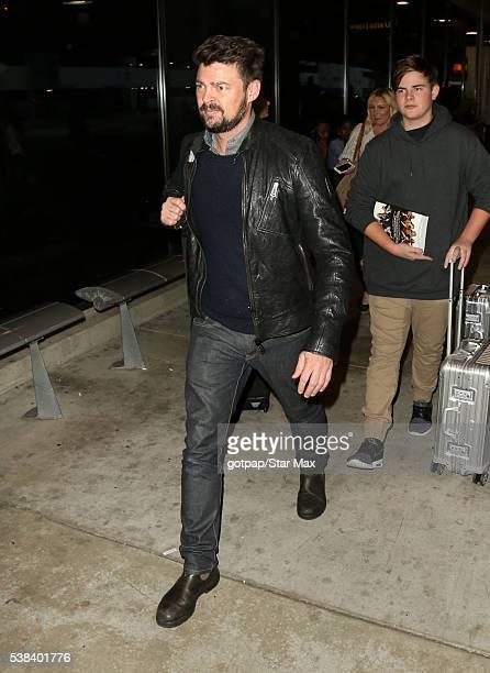 Actor Karl Urban is seen at Los Angeles International Airport on June 5 2016 in Los Angeles California