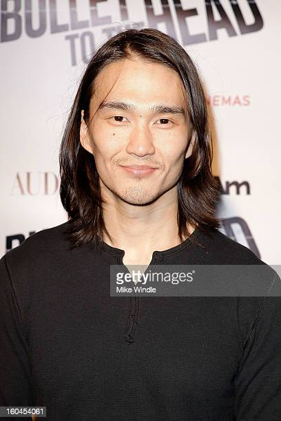Actor Karl Yune attends KoreAm Journal and Audrey Magazine's advanced screening of 'Bullet To The Head' at CGV Cinemas on January 31 2013 in Los...