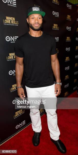 Actor Karon Joseph Riley attend the When Love Kills The Falicia Blakely Story movie screening at Regal Atlantic Station on August 9 2017 in Atlanta...
