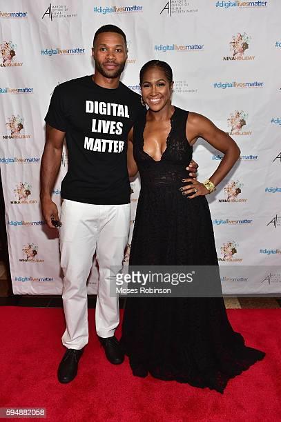 Actor Karon Riley and wife Actress and Director Terri J Vaughn attend #digitallivesmatter Atlanta Screening at Regal Atlantic Station on August 24...
